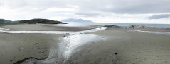 Mjelle. Nordland. Norway (ibethmuttis) Tags: beach sand sea clouds sky water landscape hill minimalist red mjelle nordland norway panasonic lumixlx100 ibeth