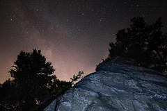 Milky Way from Hammonds Rocks, PA (Douglas Heusser Photography) Tags: milky way stars galaxy cosmos long exposure wide angle landscape astrophotography mountain view night sky star shooting heusser photo canon rokinon 14mm lens space rock climbing hiking midnight
