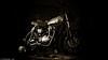 A Family Passion (Neil. Moralee) Tags: credditondevon neilmoralee kawasaki scrambler w650 custom bike motorcycle moto motovelo credditon devon funky ride style passion twowheel neil moralee toned sepia olympus omd em5 dark stylish fashion biker display coffee bikenoir black white bw blackandwhite mono monochrome
