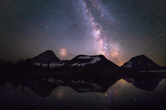 A Shot in the Dark (mhitchner1) Tags: milky way night sky landscape montana usa glacier national park lake reflection mountains west nature light pollution galaxy stars earth space
