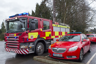 Fire engine and response car