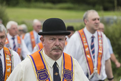 The Worshipful District Master (Frank Fullard) Tags: frankfullard fullard candid street portrait worshipful reverned honourable language bowlerhat orangeorder orange parade marching williamoforange rossnowlagh donegal ulster irish ireland northernireland worship diety sash lol master districtmaster lodge freemason mason