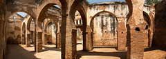 Ancient Arches @ Chella Pano(6) (jarhtmd) Tags: africa morocco architecture arch historic rabat canon eos70d panorama facade pano repetition