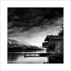 Interlude XVI (Frank Hoogeboom) Tags: unitedkingdom ullswater uk lakedistrict monochrome sky duke portland boathouse lakes fineart longexposure bnw blackwhite square cloud dramatic jetty pier house building scenic sunrise mountain snow snowcap nature outdoors travel britain england pooleybridge landscape waterscape