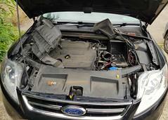 Ford Mondeo Flat Battery Replacement (Stuart Axe) Tags: battery flatbattery carbattery enginebay duratorq tdci ford mondeo fordmondeo fordmondeotitaniumx titaniumx ea63ldj taxi hackneycarriage england uk unitedkingdom gb greatbritain car titanium 2013 tddi diesel fordmotorcompany fmc taxicab cab powershift