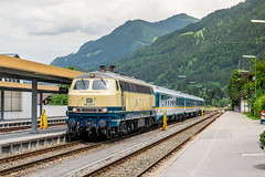 218 447-1 RP Rail Systems Oberstdorf 11.06.18 (Paul David Smith (Widnes Road)) Tags: 2184471 rp rail systems oberstdorf 110618 drprs allgäu blue beige allgäubahn allgäuer bahnstrecken immenstadt