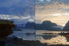Lofoten in Norway (Marco Braun (In holidays)) Tags: himmel sky ciel norwegen norway norwége sea blau blue bleu wasser eau water montain berg montagne lofoten white blanche schnee snow