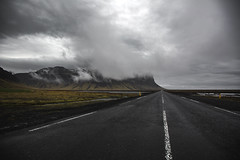 The route 1 (Frédéric T. Leblanc) Tags: route 1 route1 iceland icelandic landscape road roadtrip trip cinema cinematic moment capture create view mood moody ski cloud clouds rain tone tones grey canon 5d mk3 markiii mkiii mark3 nature travel traveller travelling green sky cloudy teen teenager amateur fun vibe