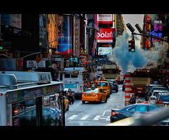 me against New York (Ste_✪) Tags: eos760d ottobre2016 nyc manhattan newyork timesquare 7thavenue cinematographic taxi yellowcab