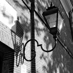Lamp And Shadow Lamp (elhawk) Tags: bw amsterdam lamp shadow
