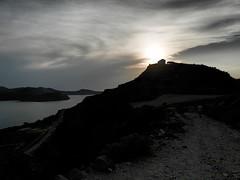convergenze (silvia07(very busy)) Tags: cielo sky terra heart collina hill nuvole clouds mare sea landscape chiesa church tramonto sunset