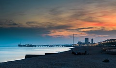 Brighton Sunset - Sussex (E_W_Photo) Tags: brighton sussex sunset sea pier palacepier westpier i360 beach canon 80d sigma 1750mm leefilters