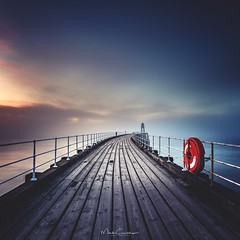 Day & Night (Mark Crawshaw) Tags: sunset canon1dx eastcoast northyorkshire leefilters longexposure westpier whitbypier