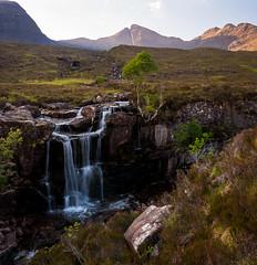 Waterfall (Joe Hayhurst) Tags: 2018 highlands joehayhurst landscape lumix scotland summer torridon waterfall lx100 beinnalligin goldenhour