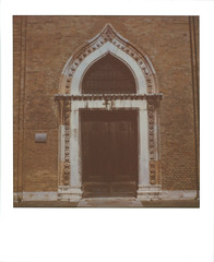 A Door in Venice (sycamoretrees) Tags: analog colorsx70 colorsx70201602 film impossible instantfilm integralfilm italia italy marianrainerharbach polaroid polaroidoriginals sanmarco sx70 venesia venezia venice