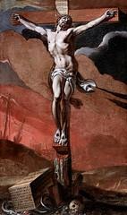 IMG_2378C Adrien Sacquespée. 1629-1692 Rouen  Le Christ en Croix; Christ on the Cross Rouen Musée des Beaux Arts. (jean louis mazieres) Tags: peintres peintures painting musée museum museo france normandie rouen muséedesbeauxarts