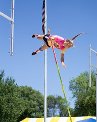 Loggers Baseball-20180706-0105 (Life Exposure by Tony Dooley) Tags: rivervault2018 riversidepark lacrossewi athlete polevault jump women competition