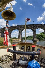 Bell, bow and bridge (Photos taken with Sony mirrorless cameras) Tags: weaver thedanny river boat waterways bell ensign steampowered