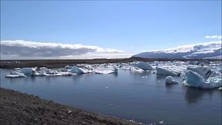 Laguna Jokulsarlon en el glaciar Vatnajokull  Islandia video 01