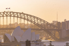 Sydney Harbour Bridge (W. von Zeidler) Tags: sydney asia oceania australien river fluss australia brücke ponte gold theater opera house nsw east oast city down under architektur arquitetura continent