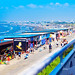 The view of Enoshima West Beach from Enoshima Aquarium : 片瀬江の島西浜海水浴場