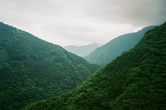 Hills of Iya Valley (Art Smet) Tags: japan iya valley hills nature green clouds film filmcamera yashica 35gx 35mm 35mmphoto 35mmfilm shikoku japantrip japan2018