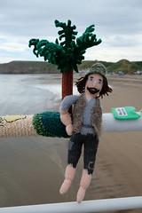 Robinson Crusoe (Glass Horse 2017) Tags: saltburn huntcliff sys saltburnyarnstormers yarnbombing knitted crochet wool pier beach figures characters books ajollygoodread 2018 marooned novel robinsoncrusoe danieldefoe alexanderselkirk island palmtree