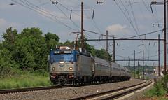 AEM7 cruising (GLC 392) Tags: amtrak emd aem7 934 electric over head wire pa pennsylvania amtk railroad railway train passenger kinzer
