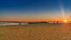 Hammonasset Sunset (Alan Charles) Tags: ct connecticutshore hammonassetbeachstatepark hammonassetstateparkmeigspoint meigspoint seascape beach ocean red rockyshoreshore sea shore sunset
