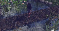 Pond scum...Who am I? (Markthedark SL) Tags: water pond nature cattails sl second life outdoor avatar virtual secondlife catwa signature homme ethan mesh