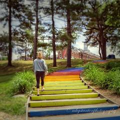 Step Up (mgstanton) Tags: rainbowsteps rainbow stairs tufts tuftsuniversity medfordma medford steps stair climb
