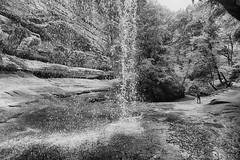 The View from Behind the Fall (kendoman26) Tags: happymonochromemonday monochrome blackandwhite hdr nikhdrefexpro2 niksoftware niksilverefexpro2 nikon nikond7100 tokinaatx1228prodx tokina tokina1228 starvedrockstatepark lasallecanyon travelillinois enjoyillinois