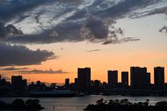 After sunset #2 (varnaboy) Tags: tokyo japan japanese minato odaibaisland island sunset clouds city urban sky buildings tokyobay