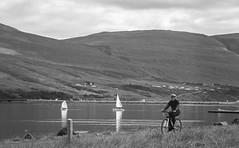 Black and white summer (joningic) Tags: black blackandwhite akureyri mountains vaðlaheiði summer 2017 bicycle nature northiceland iceland sea boats landscape