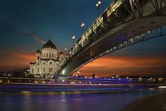 RUS68170 - Summer Night City (rusTsky) Tags: winner river city church moscow night longexposure light sight old bridge orthodox canon eos5d track capital summer sunset
