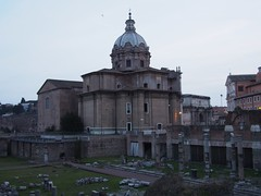View of Santi Luca e Martina along Via dei Fori Imperiali (procrast8) Tags: rome italy forum church chiesa santi luca martina arch septimius severus curia julia