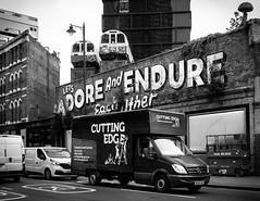 Shoreditch, London (Warren Brendan McCann) Tags: canong1x canon city blackandwhite monochrome mono van train shoreditch london