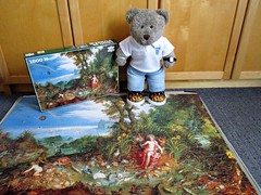 NUDDY LADY ALERT!! (pefkosmad) Tags: jigsaw puzzle leisure hobby pastime secondhand complete unopened sealed tedricstudmuffin teddy bear ted animal toy cute cuddly fluffy plush soft stuffed