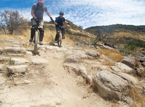 Bevan and Dragon on Manzanita Trail