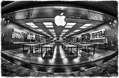 The Tech Store (PEN-F_Fan) Tags: microfourthirds olympusomdem10markii mirrorless monochrome m43 applestore hdr preset photoborder mft shoppingcenter blackandwhite postprocessing photoframe photoedge fisheyelens mzuikodigital8mmf18fisheye austin texas unitedstatesofamerica usa