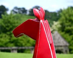 Red Head (pjpink) Tags: origami sculpture lewisginterbotanicalgarden lewisginterbotanicalgardens lewisginter gardens northside rva richmond virginia june 2018 summer pjpink 2catswithcameras