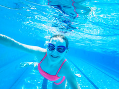 pooltime-9 (lermaniac) Tags: red pool swimingpool girl outdoors teen water countryclub underwater child blue dive