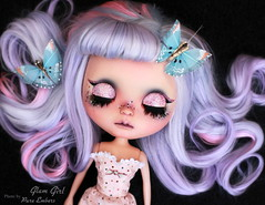 Adventure (pure_embers) Tags: pure embers blythe doll dolls custom kdollsheaven neo uk laura england girl pretty pureembers photography lilac pink alpaca hair pastel goth glitter glam pommepomme butterflies adventure pinup portrait sleeping visitor eleanorjaneagain