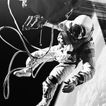 Astronaut Edward H. White II, floats in the zero gravity of space outside the Gemini IV spacecraft. Original from NASA. Digitally enhanced by rawpixel. thumbnail