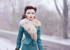 A flashback to colder days (pure_embers) Tags: pure embers doll dolls uk pureembers photography laura england gene marshall iced coffee emberscarmen carmen portrait 50s style classic elegant skirt suit fashion melodom ashton drake galleries collector snow