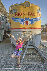 Day with the Trains (livininfrostytown) Tags: familyouting familyfun trains unionstation summer sunnyeveing kids oldtrains museum 2016 old sunlight charmedimpressions ogden utah children palyingaround cute daughter son adopted lovethem girl boy sister brother