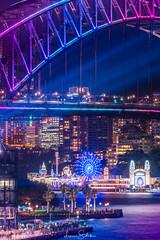 Vivid by the Bridge 2018 (leonsidik.com) Tags: leon sidik fujifilm night vivid sydney australia nsw newsouthwales landscape long exposure 2018 light