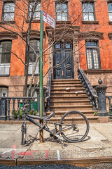 No Parking (writing with light 2422 (Not Pro)) Tags: nyc newyork brownstone bike vertical hww happywindowswednesday no parking sign richborder sonya7