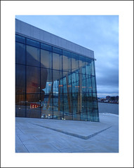 Oslo opera exterior study II (Christa (ch-cnb)) Tags: oslo norway norge opera house architecture snøhetta blue clouds olympus tg4 tough