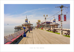 Pier of the North (Parallax Corporation) Tags: blackpool northpier northshore boardwalk wideangle drone holidaymakers sunshine flags unionjack telescope theatre